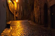 Nighttime Street Brittany