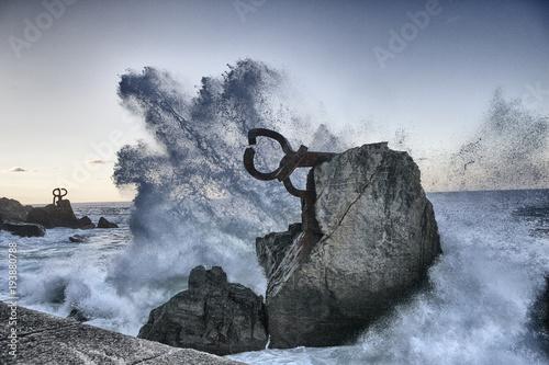 Fotografie, Obraz  Peine del viento. Donostia San Sebastian