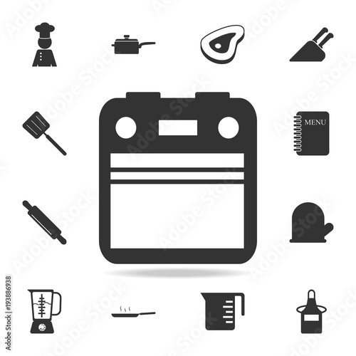 Oven Icon Set Of Chef And Kitchen Element Icons Premium Quality