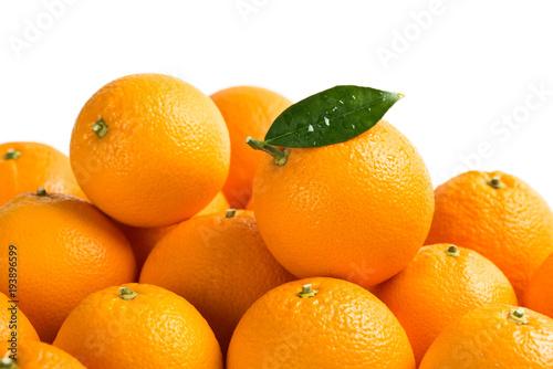 Group of fresh ripe orange fruits.