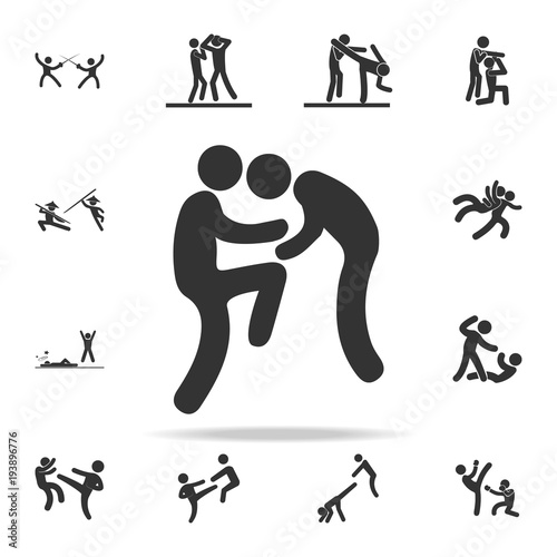 Knee Jerk Icon Set Of Cfight And Sparring Element Icons Premium