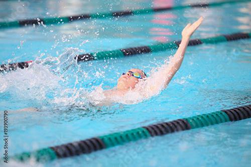 Backstroke  swimmer Canvas Print