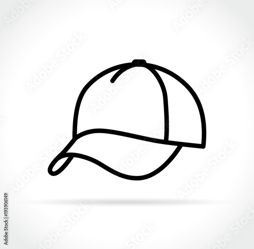 Stampa su Tela  cap icon on white background