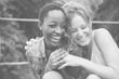Leinwanddruck Bild A cheerful lesbian couple