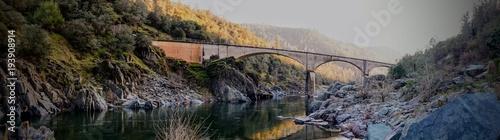 No Hands Bridge Auburn CA Canvas Print