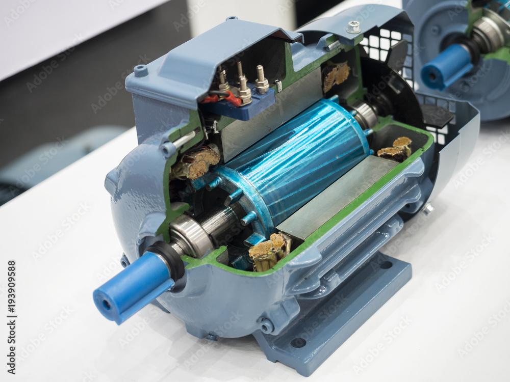 Fototapeta high power torque motor cutting section see trough