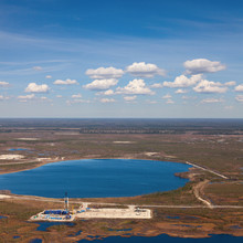 Oil Field, Top View
