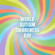 World autism awareness day. The concept of color puzzles. Design in a flat style. Modern medicine and health care. Vector illustration