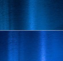 Blue Metal Textures Color Set