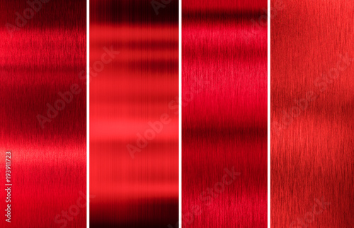 plakat red metal textures color set