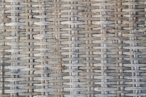 Fotografia, Obraz  The Bamboo Wicker Fence Background, rattan fence, texture for web site or mobile