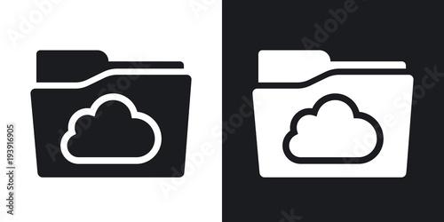 Pinturas sobre lienzo  Vector cloud folder icon