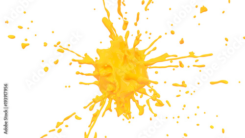 splash yellow paint