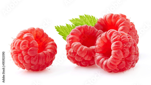 Tuinposter Vruchten Raspberry in closeup