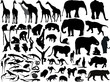 isolated south animals black silhouettes