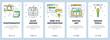 Vector modern thin line photography vertical web banner set