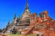 Leinwanddruck Bild - Wat Phra Si Sanphet, a Buddhist temple in Ayutthaya, Thailand