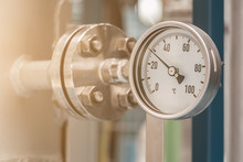 Temperature Gauge In Petrochemical Plant