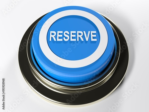 Stampa su Tela Reserve blue push button - 3D rendering