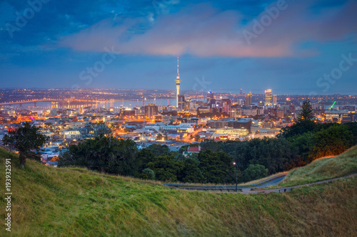 Poster Océanie Auckland. Cityscape image of Auckland skyline, New Zealand taken from Mt. Eden at dawn.