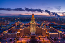 Illuminated Moscow State Unive...