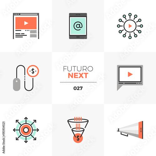 Fotografie, Obraz  Digital Marketing Futuro Next Icons