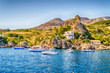 Wild beautiful coastline at the Zingaro Natural Reserve, Sicily, Italy