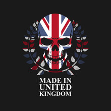 Skull On United Kingdom Flag