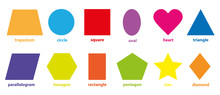 Basic Geometric Colorful 2D Sh...