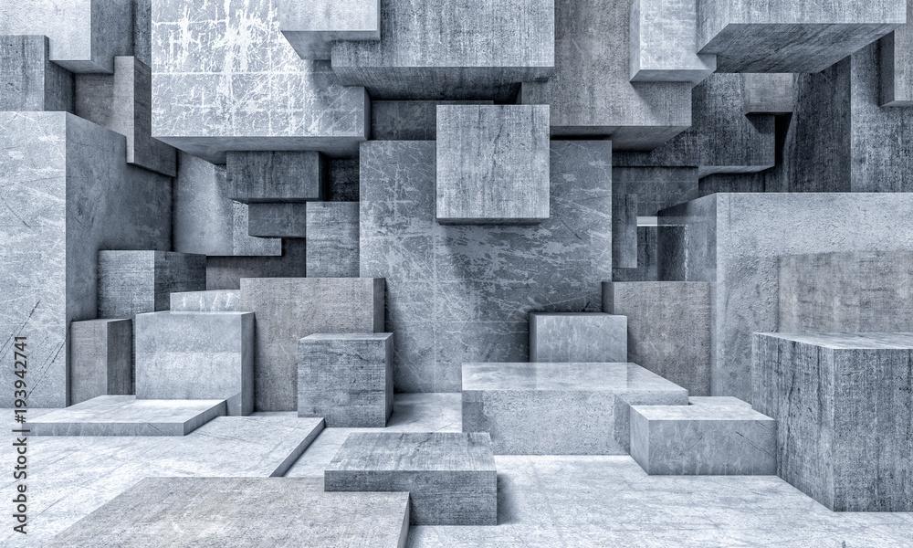 Fototapeta geometric 3d background