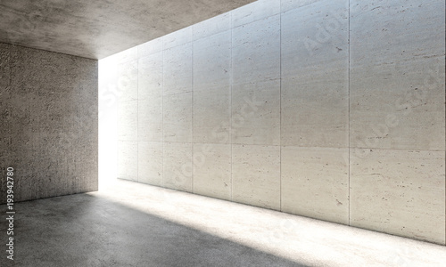 Obraz concrete modern interior - fototapety do salonu