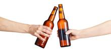 Beer Bottles Making Toast