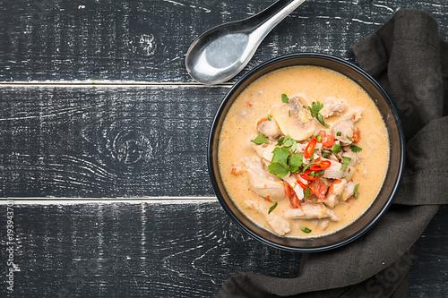 Thai soup called Tom Kha Gai