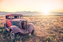 Old Rusty Antique Car, Abandon...