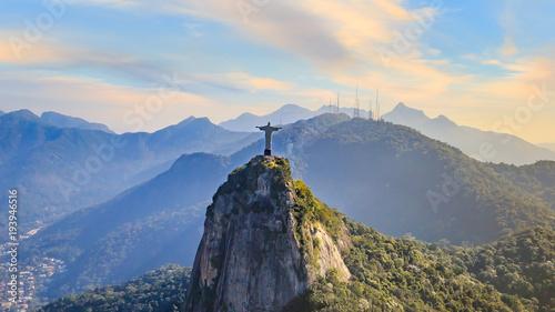 Poster Brésil Aerial view of Rio de Janeiro city skyline in Brazil