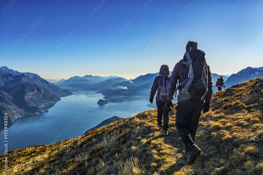 Fototapety, obrazy: Trekking sul Lago di Como