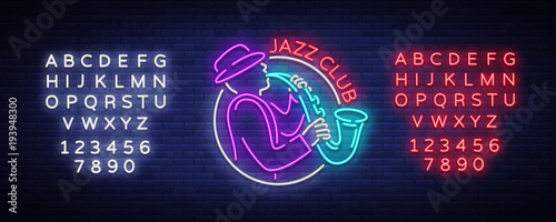 Photo Jazz Club Neon Vector