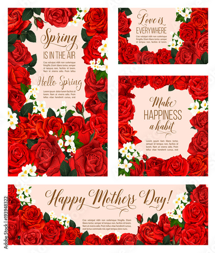 Vector spring flowers of mother day greeting cards buy this stock vector spring flowers of mother day greeting cards m4hsunfo