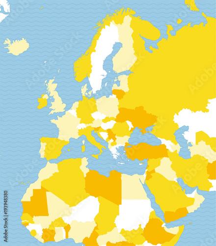 Cartina Dell Australia Politica.Cartina Politica Dell Europa Africa E Medio Oriente