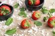 Fresh red strawberry