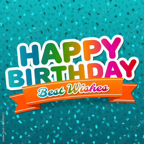 Photo  Happy Birthday and best wishes greeting Card
