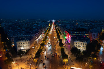 FototapetaChamps Elysees from above