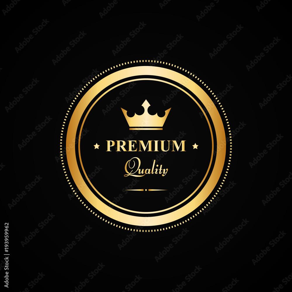 Fototapeta Vector gold premium quality badge