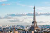 Fototapeta Fototapety z wieżą Eiffla - eiffel tour and Paris cityscape