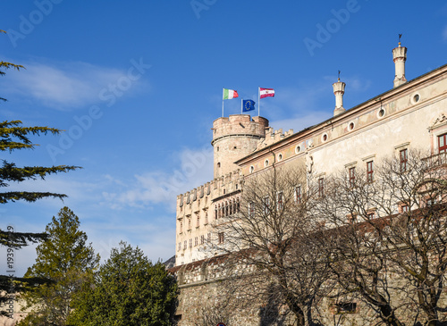 Obraz na plátně  The majestic Castle of Buonconsiglio at the heart of the city of Trento towers i