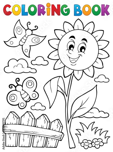Wall Murals For Kids Coloring book flower topic 7