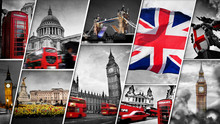 Collage Of The Symbols Of Lond...