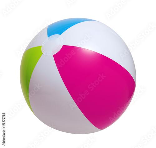 Fotografia  Beach ball on a white