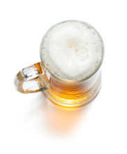 Mug Of Ligt Beer With Foam Iso...