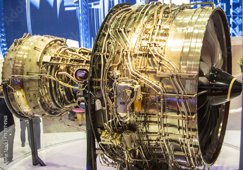 aircraft engine Canvas Print